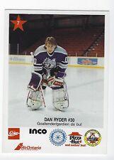 1990-91 Sudbury Wolves (OHL) Dan Ryder (goalie)