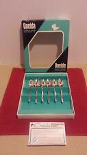 VINTAGE ONEIDA DELUXE STAINLESS STEEL BOX SET/6 ~ SIX ~ VANESSA COFFEE SPOONS