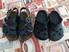 lotto 104 scarpe sandali ciabbatine blu 2 paia bimbo bambino n.23