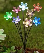 Solar Powered Multi Colour 20 LED's Flower Light Garden Path Outdoor Decor