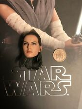Hot Toys Star Wars TLJ Rey Jedi Training Ver Head Sculpt loose 1/6th scale
