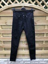 Ladies Skinny Black Denim Motorcycle Jeans - Size 28 / 8 - Aramid Pekev