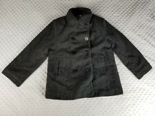 ROTHSCHILD Kid's Size 14 Wool Blend Pea Coat Gray
