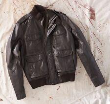 Dockers Genuine Leather Bomber Jacket