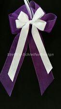 10 Antennenschleifen Autoschleifen Antennenschleife Hochzeit Schleifen lila weiß