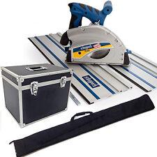 SCHEPPACH PL55 PLUNGE SAW WITH 2 X 700MM TRACK RAILS - CASE & BAG