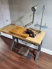 Industrial serger sewing machine