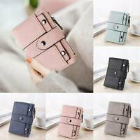 Womens Short Small Money Purse Wallet Ladies Leather Folding Coin Card Holder UK