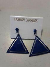Earrings. 💜. New Blue triangle dangle