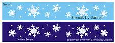 Primitive Seasonal Lg Stencil White Christmas Snowflakes Holiday Border Art Sign