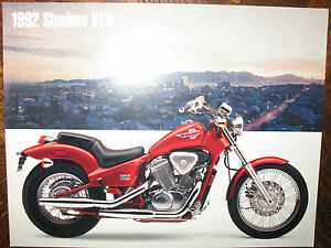 92 HONDA SHADOW VLX NOS OEM DEALER'S SALES LITERATURE BROCHURE