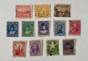12X Mint/Used Hawaii Reference Lot