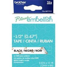 P-Touch Embellish Black Print on Tan Paws Pattern Tape