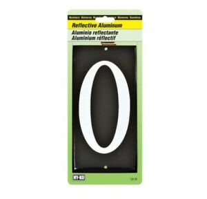 Hy-Ko CA-25 3-1/2 in. Reflective White Aluminum Nail-On Number
