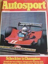 AUTOSPORT MAGAZINE SEP 1979 SCHECKTER IS CHAMPION KEEGAN THRUXTON AFX LOTUS SUNB