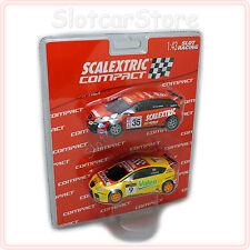 SCX scalextric compact 1:43 2x seat Leon (#9 genes, #35 Nogues) 3709 carreras auto