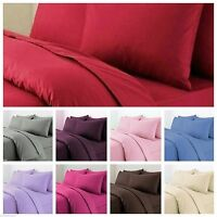 New Luxury Plain Duvet/Quilt Cover Set With Pillow Cases & 100% free delivery