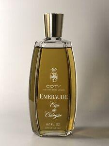 Vintage COTY EMERAUDE Eau de Cologne 8.0 Fl. Oz. Splash Perfume Full Large