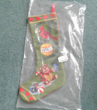 embroidered needlepoint Teddy bear & Toys Christmas stocking New