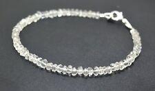 Handmade Crystal Gemstone 3-4 mm Rondelle Faceted Beads Beaded Jewelry Bracelet