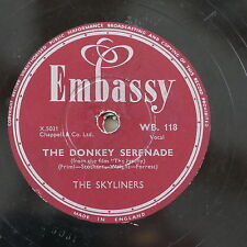 78rpm The Skyliners the donkey serenade / the happy wanderers