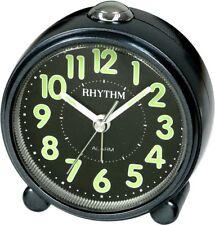 RHYTHM Wecker Uhr Alarm Schwarz CRE856NR02