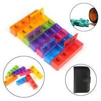 7 Day Pill Box Medicine Tablet Dispenser Organiser Week Storage Weekly Daily