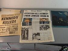 CHICAGO TRIBUNE NEWSPAPER 1964 REPRINT KENNEDY 1969 MOON LANDING GUIDE SUN TIMES