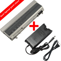 6/9 Cell Battery For Dell Latitude E6400 E6410 E6500 E6510 PT434 Laptop Charger