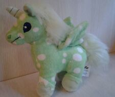 Neopets Unicorn 2008 Green and white  Angel Wings and Blue Eyes Pale Green Tail