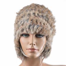 Bonnet chapeau Chapka Femme 100% Fourrure de Lapin Marron Sousanna ZAZA2CATS new