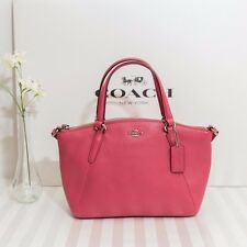 NWT Coach F57563 Mini Kelsey Satchel In Pebble Leather Strawberry Pink