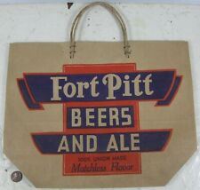 1940's Fort Pitt Beers and Ale 6 Pack Bag
