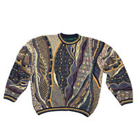 Tundra Canada 3D Textured Vintage 90's 100% Cotton Sweater Men's Large