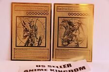 USA Seller Anime Black Luster Soldier & Chaos Emperor Dragon Golden Metal Card