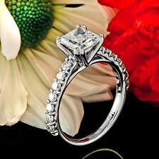 1.78 CT PRINCESS CUT DIAMOND ENGAGEMENT RING 14K WHITE GOLD
