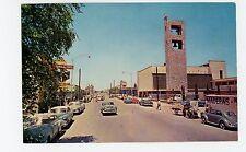 Avenida de los Insurfentes—Ciudad JUAREZ Vintage Chrome Tarjeta Postal CARS 60s