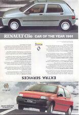 Original UK  Price List Renault Clio 1999 car of the year