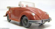 WIKING 33/2 B VW Käfer Cabriolet mit Hörnern korallenrot