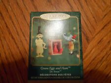 2000 Hallmark Keepsake Ornament Green Eggs and Ham Dr. Seuss Mini Set of 3 Nib