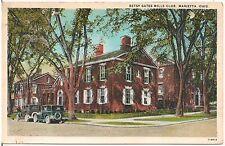 Betsy Gates Mills Club in Marietta OH Postcard 1936