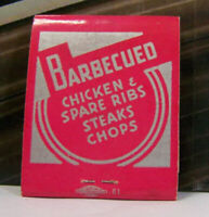 Vintage Matchbook I1 Chicago Illinois Rotogril Ira Smitha Barbecued Chicken Ribs