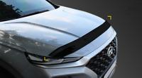 Acrylic Bonnet Hood Guard Garnish Deflector D-622 for Hyundai Santa Fe 2019~2021