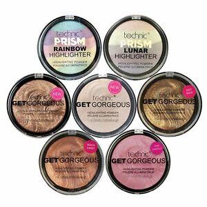 Technic Get Gorgeous Highlighter Powder Highlighting Illuminating Blush, Bronzer
