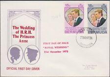 Bermuda - 302-3 Wedding Princess Anne OFDC 1973