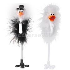 Bride and Groom Ostrich Wedding Reception Guset Book Pen Fun Feather Set