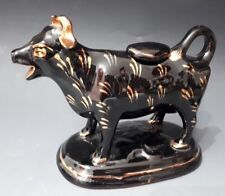 """Victorian""""Laughing"""" Cow Creamer Jackfield Pottery c.1860"""