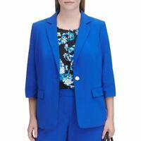CALVIN KLEIN Women's Plus 3/4 Sleeve Single Button Blazer Jacket Top TEDO