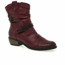 Rieker Zip Synthetic Leather Boots for Women