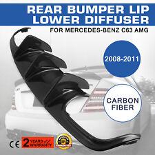Rear Lip Diffuser Bumper Spoilers Fit for 2008-2011 Mercedes Benz W204 C63 AMG